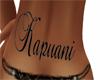 Kapuani lower back tatto