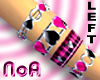 Pink&Black/4Bracelets(L)