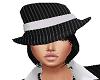 mafia hat blk hair