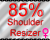 *M* Shoulder Resizer 85%