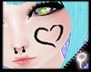 P| Heart Paint Black