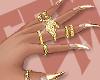 FEM | Nails; Gold Tips