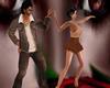 Baile movimiento y beso