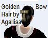 Golden Bow Hair
