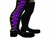 kr thigh high black/purp