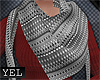 [Yel] Dianna white scarf
