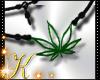 Weed Pot Leaf Necklace