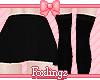 🎀 School skirt black