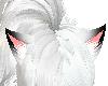 Black Tip White Cat Ears