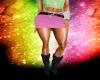 powder pink skirt