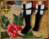 Blk/Wht Snow Boots