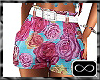 [CFD]Turq Rose Shorts