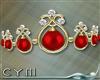 Cym Holiday Red Tiara