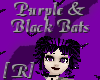 Black & Purple Bats