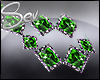 *S Green Gem Necklace