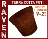 CARVED TERRACOTTA POT V2