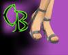 Celeb Silver Heels