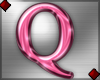 Pink Letter Q