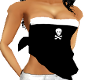 (LMG)Skull Black Halter 