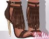 mm. Fringe Heels (Bwn)