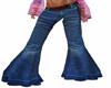 70s Wide leg belted jean
