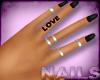 Black Nails + Rings