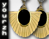 Y| Gold Onyx Earrings