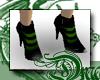 d Absinthe Striped Heels