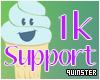 1k Support Sticker