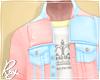 Pastel Denim  Pink+Blue