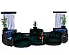 huge teal sofa