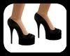 Black Latex Heels^