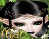 Elf whith tiara in black