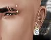 Brow Piercing w/Gold/Dmd