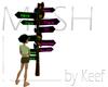 Signpost, Rustic MESH