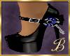 Blue & Black Shoes