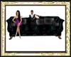 black/teal sofa