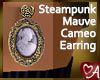 Mauve Cameo Earrings