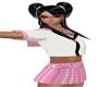 School Girl Flat Pink/W