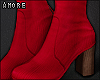 $ Red Booties