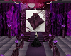 Purple wedding room.