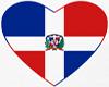 Dominican Heart Flag