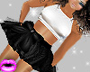 *L* Flirty Black Skirt