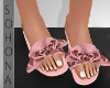 ṩ| Bow Slippers Pink