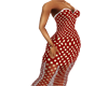 LW Red Pokadot Dress