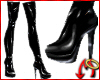 Awesome PVC Boots Black