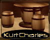 [KC]BARREL BAR TABLE