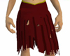 ragged ruby red skirt
