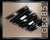 ^G^ black bracelet