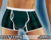 Dark Green Stripe Boxers